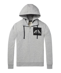 Felpa grey cotton blend hoodie