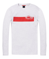 Ash cotton blend logo long sleeve top