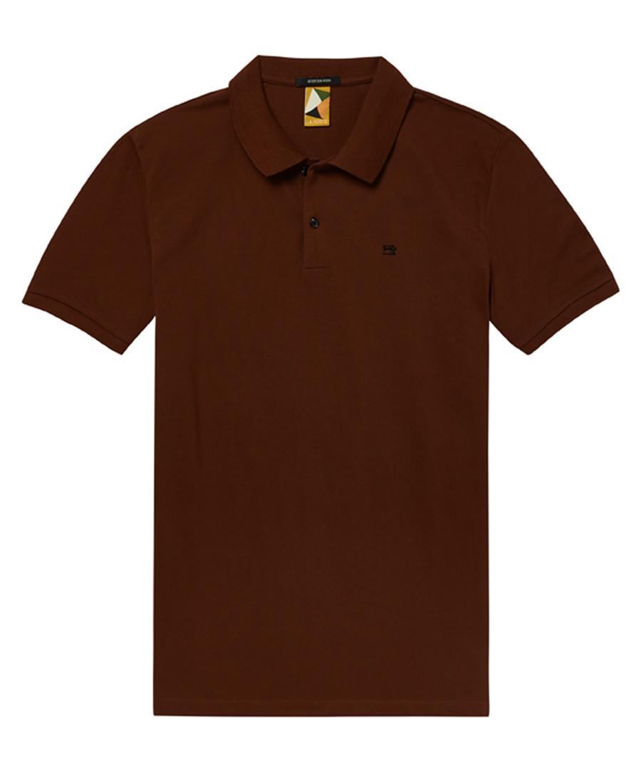 Mahogany pure cotton polo shirt Sale - Scotch & Soda