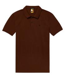 Mahogany pure cotton polo shirt