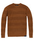 Brown stripe pure cotton crew jumper Sale - scotch & soda Sale