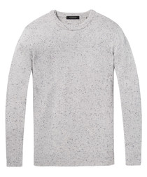 Grey melange wool blend jumper