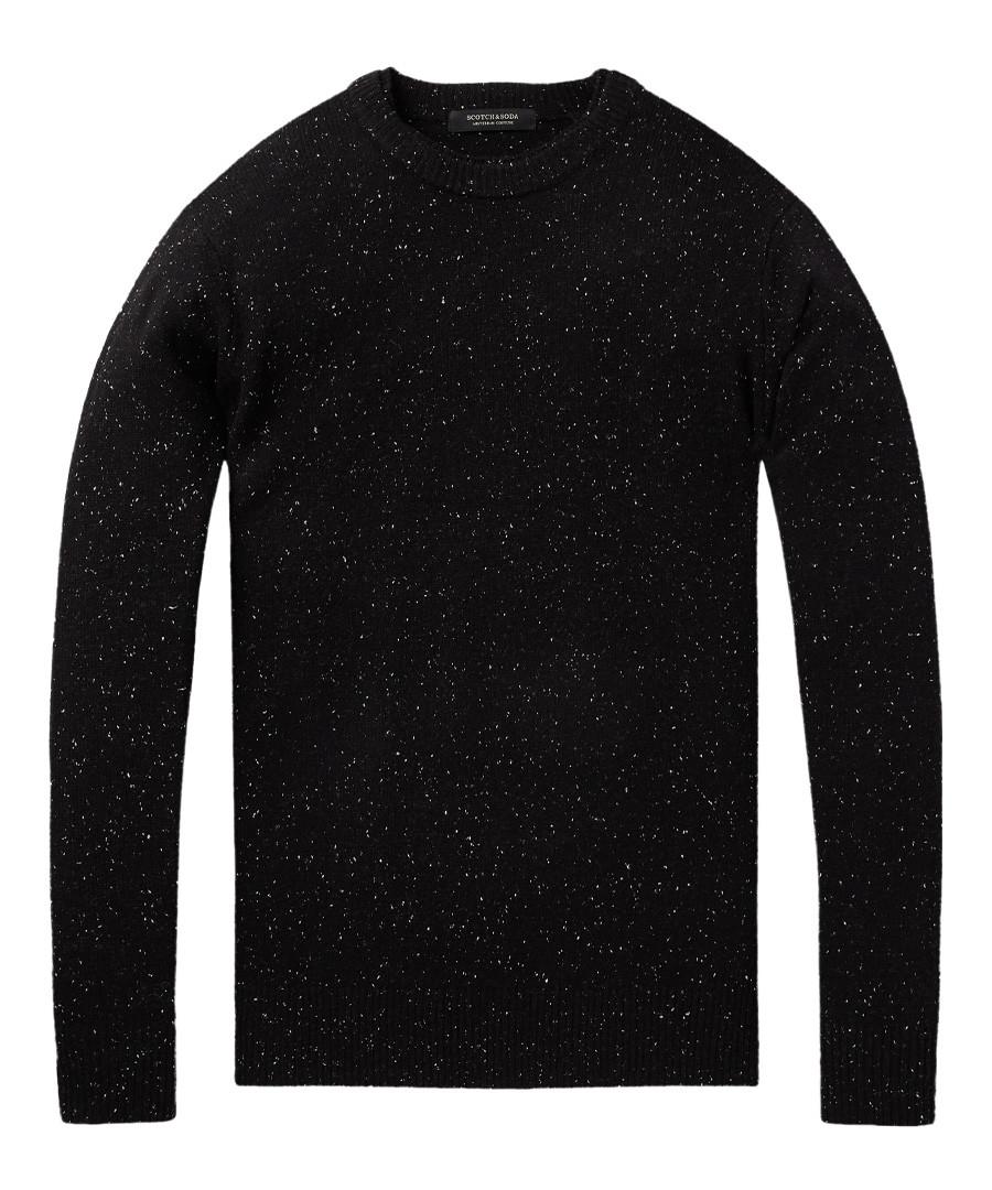 Black melange wool blend jumper Sale - scotch & soda