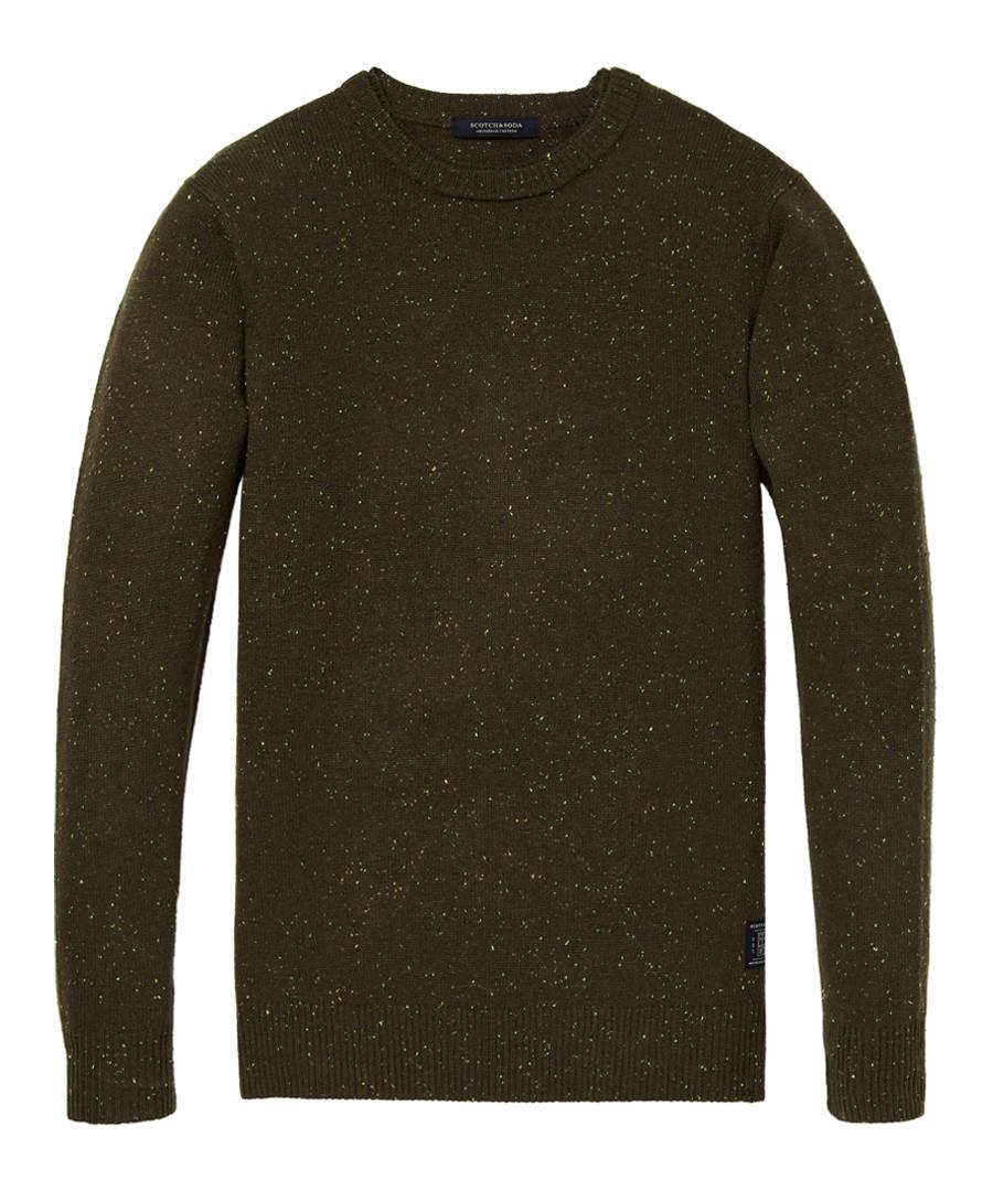 Brown melange wool blend jumper Sale - scotch & soda