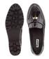 Black leather tassel loafers Sale - dune Sale