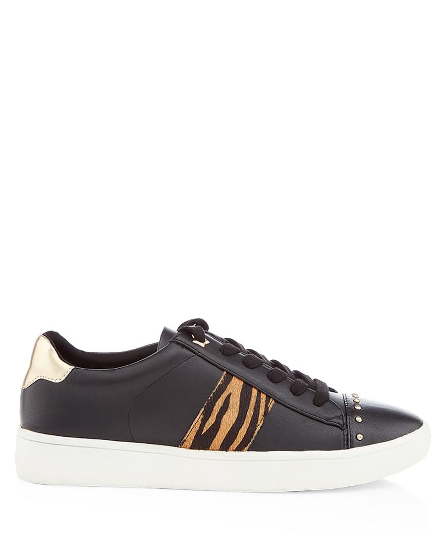 Black tiger print sneakers Sale - dune