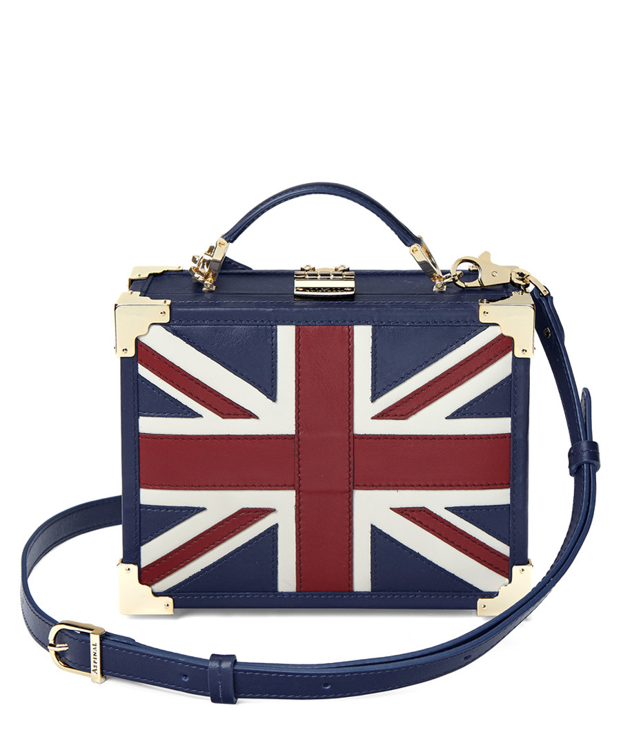 Union Jack leather trunk clutch bag Sale - Aspinal of London