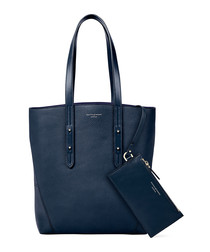 Essential A navy pebble leather tote