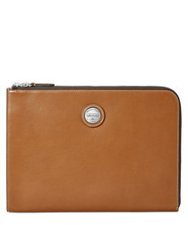 Aerodrome tan leather padfolio
