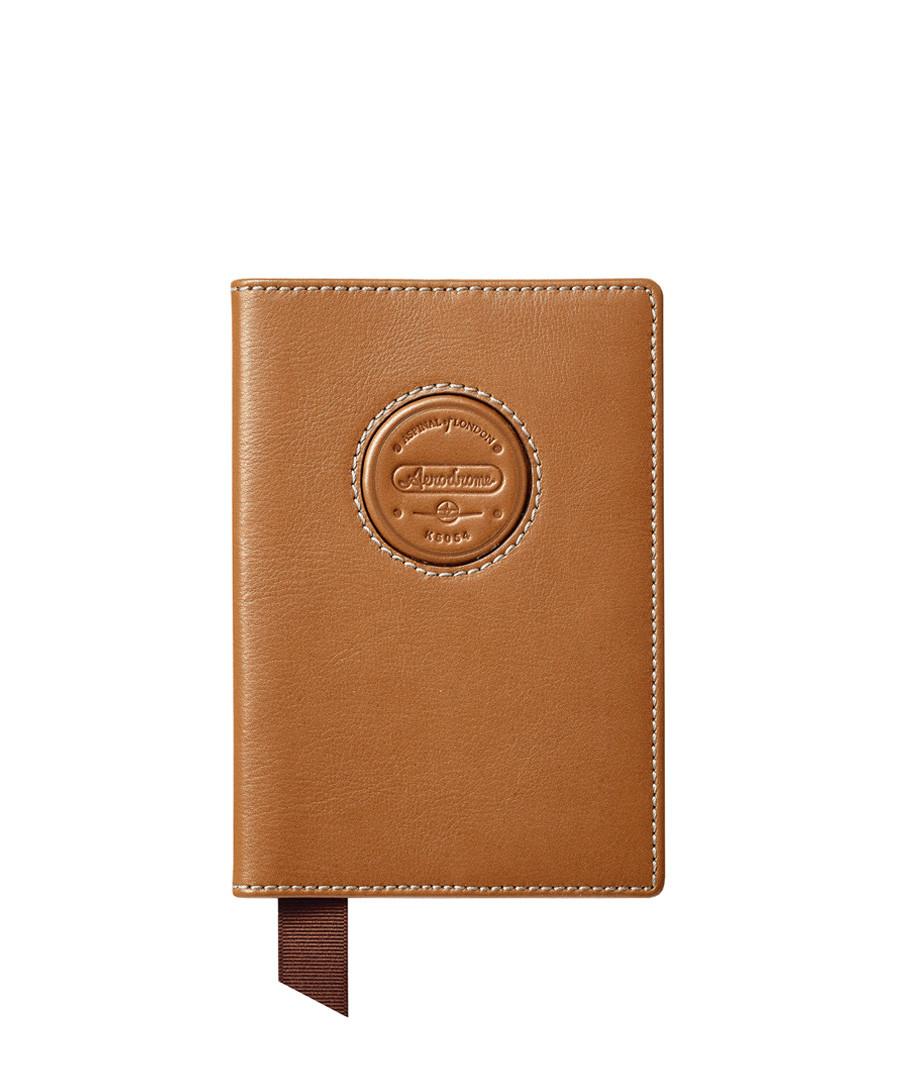 Aerodrome tan leather passport cover Sale - Aspinal Of London