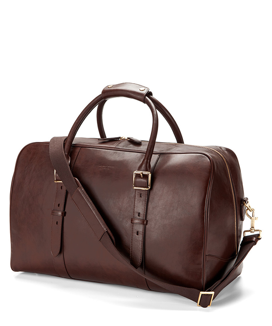 Harrison chocolate leather weekender Sale - Aspinal Of London
