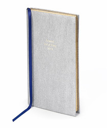 2019 Social Diary silver-tone leather