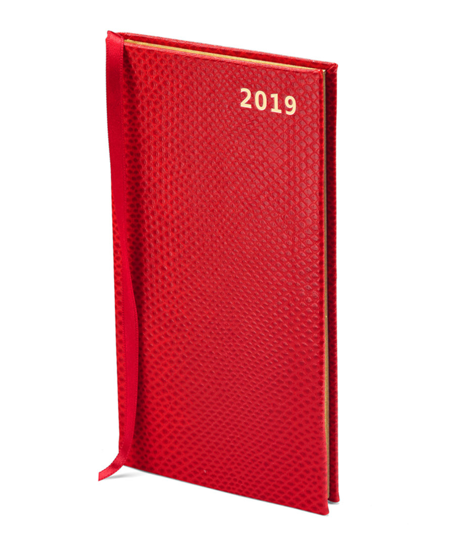 Berry leather lizard pocket diary Sale - Aspinal of London