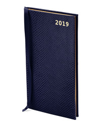 2019 Midnight leather slim pocket diary