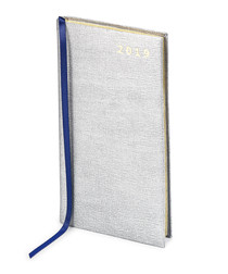 2019 Slim Pocket Diary silver leather