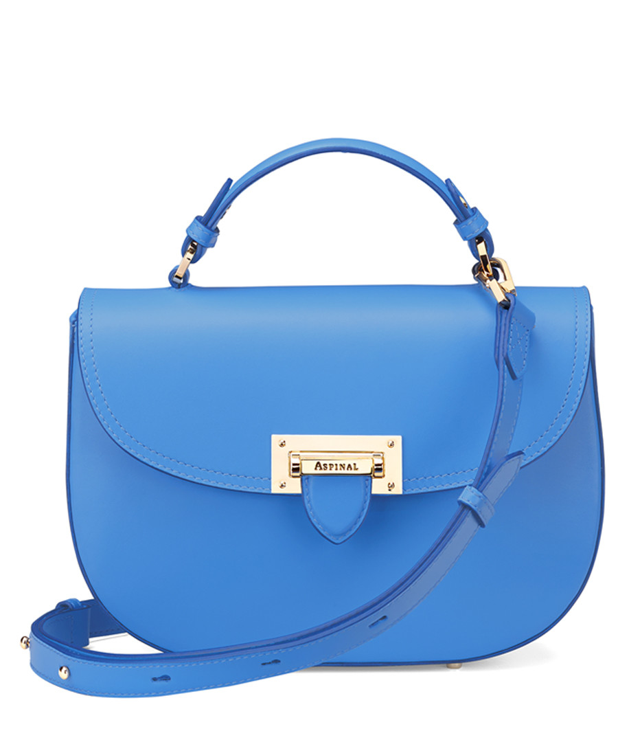 Forget Me Not blue leather saddle bag Sale - Aspinal of London