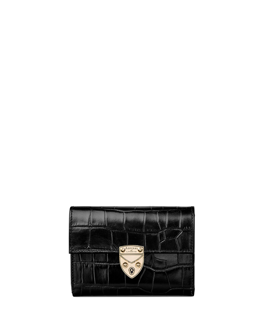 Mayfair Small black leather purse Sale - Aspinal of London
