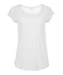 Dillon white pure cotton T-shirt