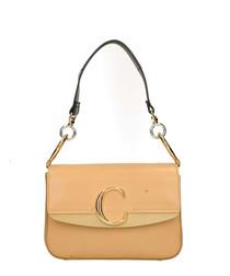 C Double bleached brown shoulder bag