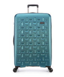 Richmond teal spinner suitcase 78.5cm