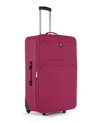 Kos red spinner suitcase 66cm