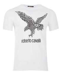 white pure cotton tribal eagle T-shirt