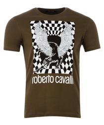 khaki pure cotton chimera T-shirt