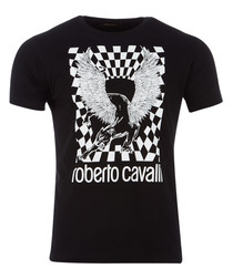 black pure cotton chimera T-shirt