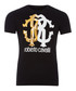 black & gold-tone cotton emblem T-shirt Sale - roberto cavalli Sale