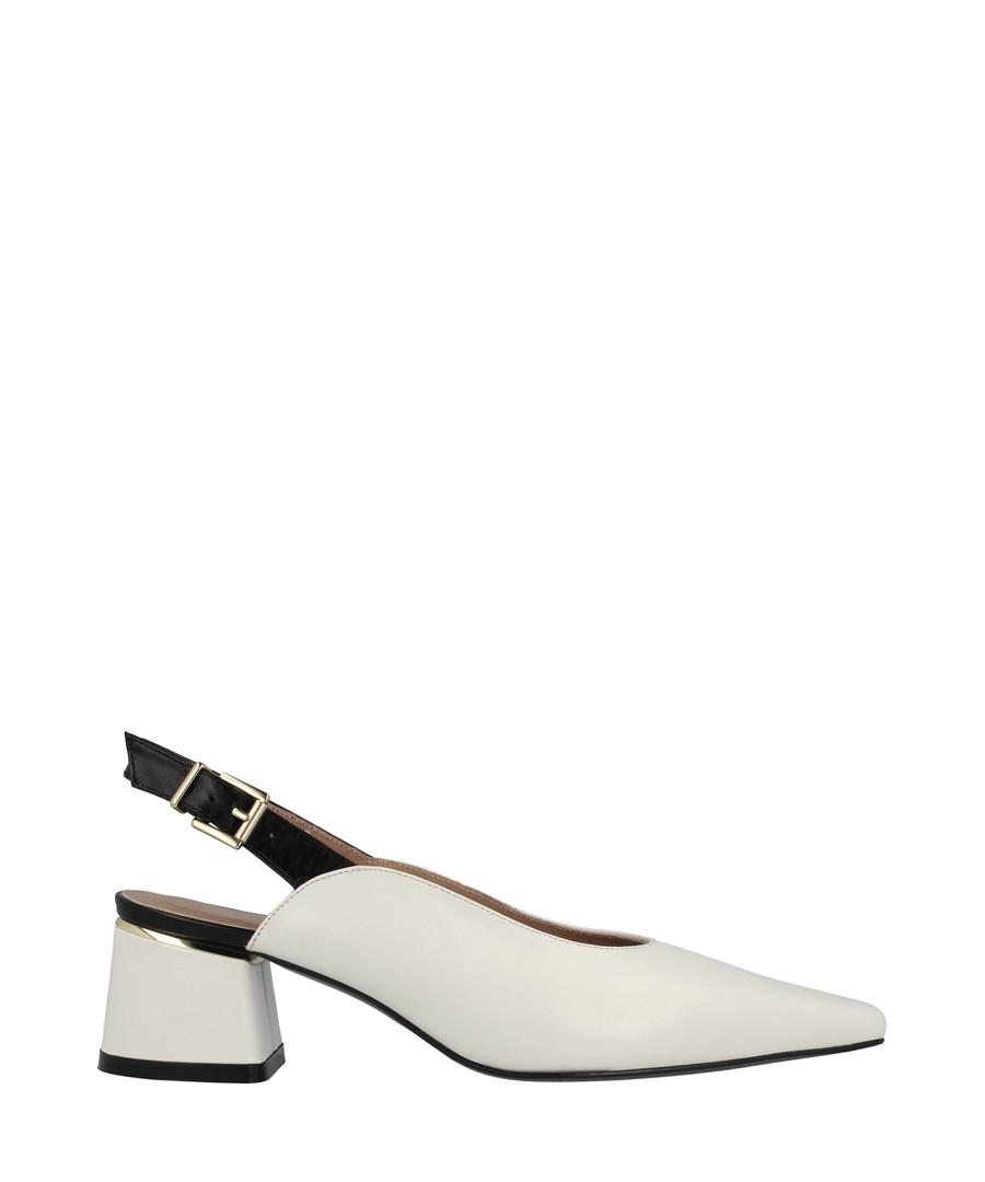 White leather slingback block heels Sale - roberto botella