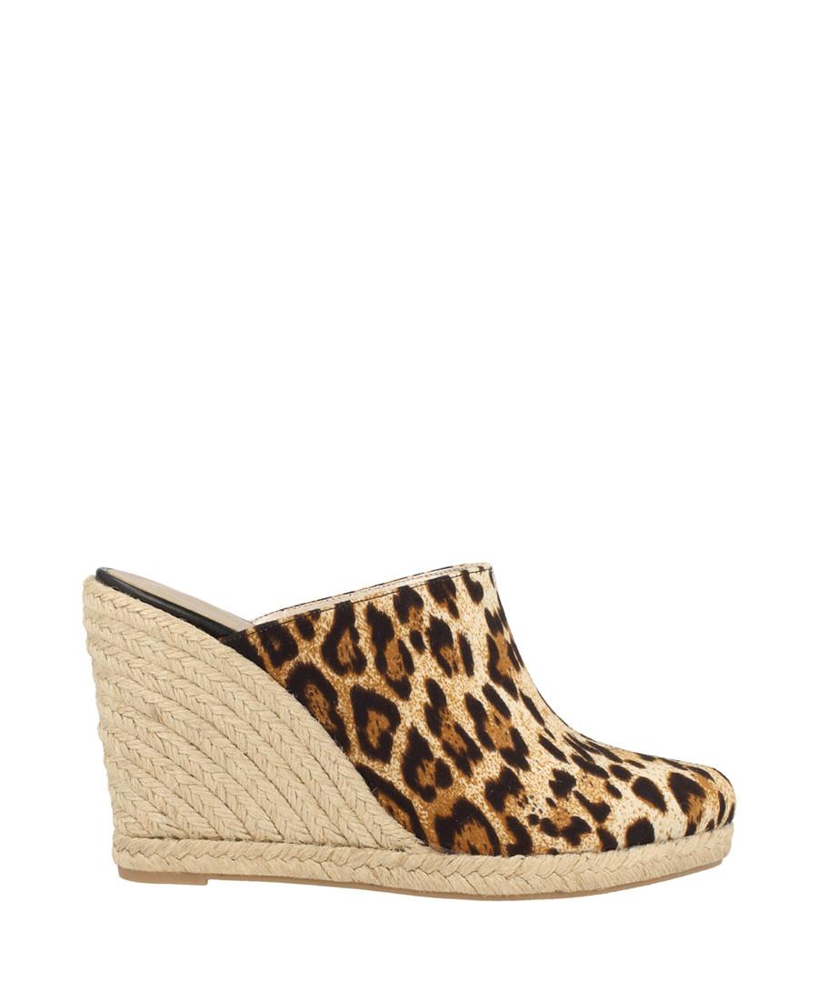 Leopard print textile wedge mules Sale - roberto botella