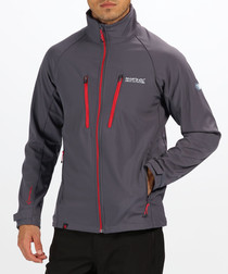 Pewter zip soft shell jacket