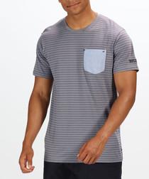 Pewter & grey pure cotton pocket T-shirt