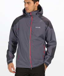 Pewter waterproof shell coat
