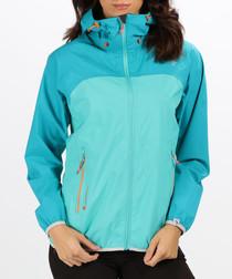 Aqua full-zip waterproof shell jacket