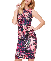 Cinnabar multi-colour print mini dress