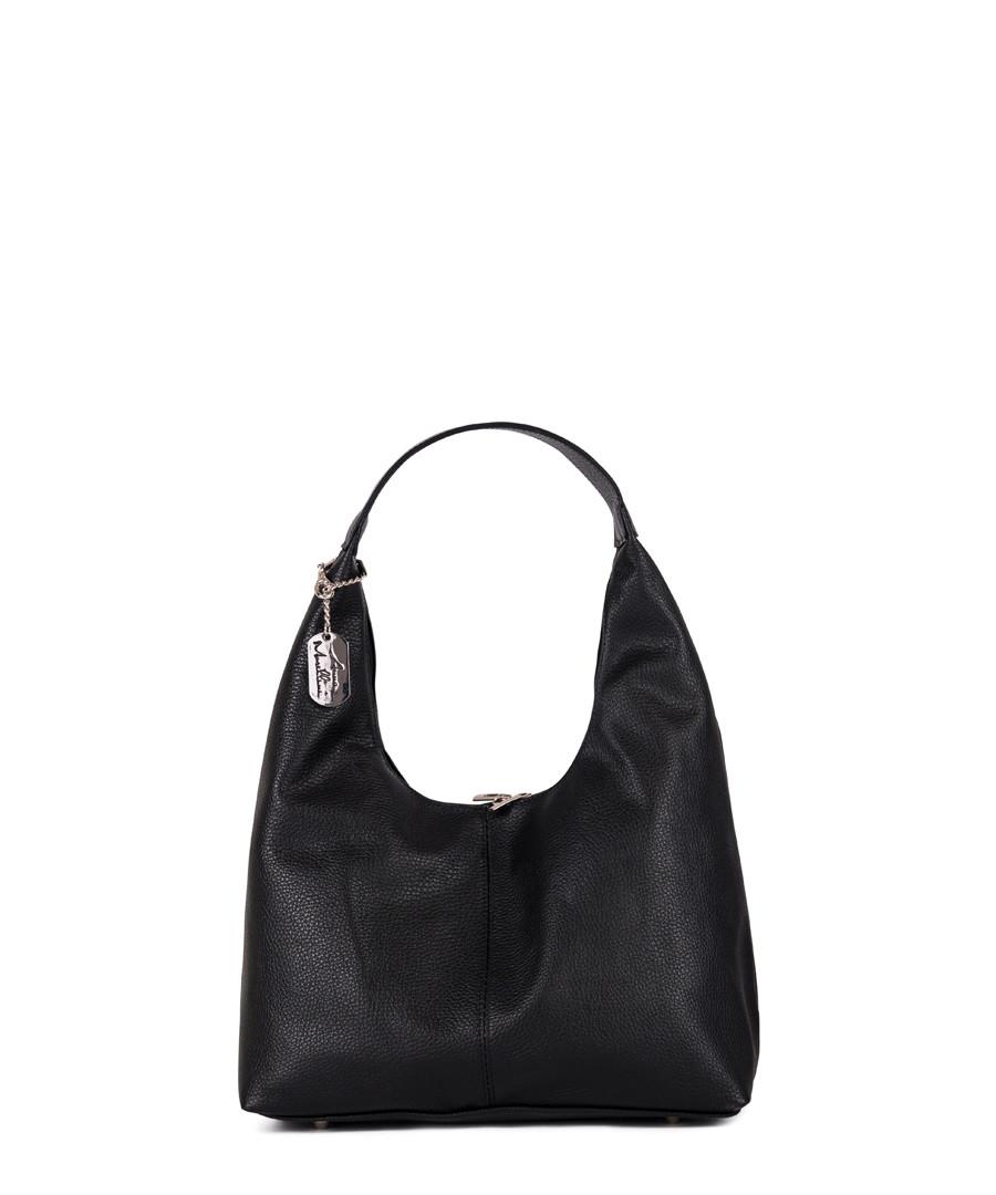 Black leather shoulder bag Sale - anna morellini