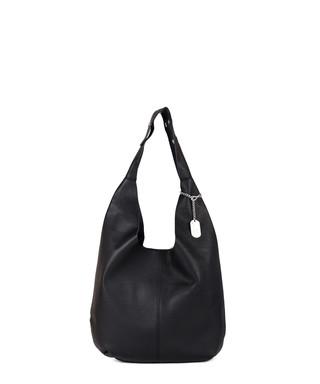 c14135107292 anna morellini. Black leather slouch shoulder bag
