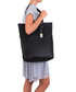Black leather longline shoulder bag Sale - anna morellini Sale
