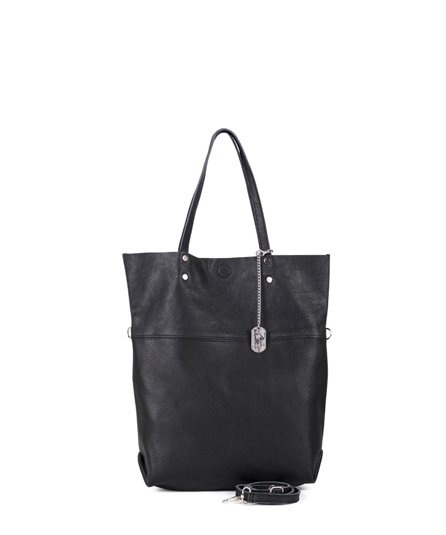 Black leather longline shoulder bag Sale - anna morellini