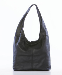 Black leather slouch shoulder bag