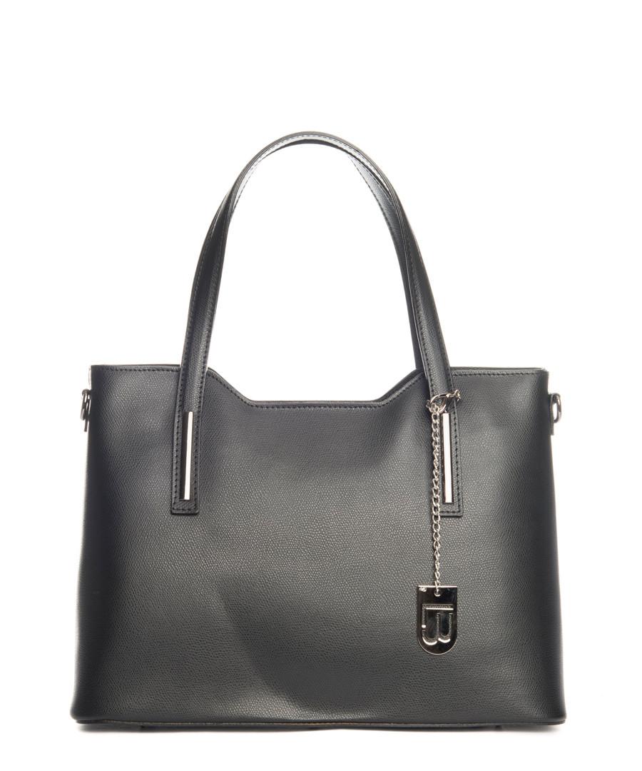 Black smooth leather shopper Sale - lucca baldi