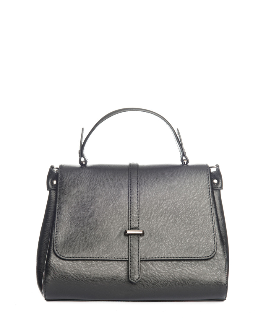 Black smooth leather grab bag Sale - lucca baldi