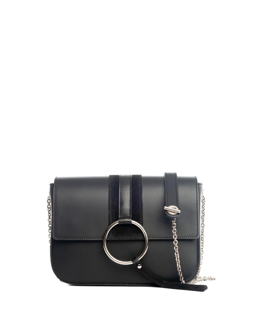 Black leather chain crossbody Sale - lucca baldi