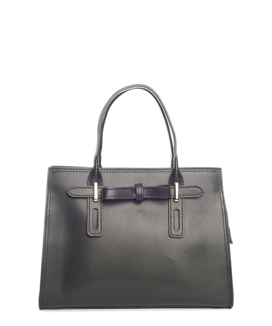 Black leather shopper Sale - pia sassi
