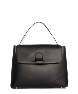 742d029b296 Black smooth leather fold-over grab bag Sale - pia sassi Sale