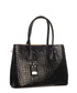 Black moc-croc leather shopper Sale - lia biassoni Sale