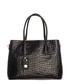 Black moc-croc leather shopper Sale - lia biassoni Sale