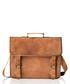 Tan distressed leather satchel Sale - woodland leather Sale