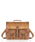Tan distressed leather pocket satchel Sale - woodland leather Sale